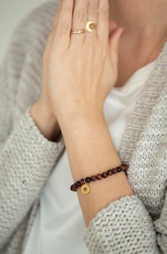 Tigereisen Sandelholz Armband