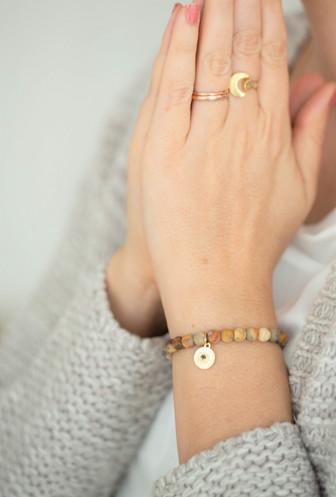 Lace Achat Sandelholz Armband