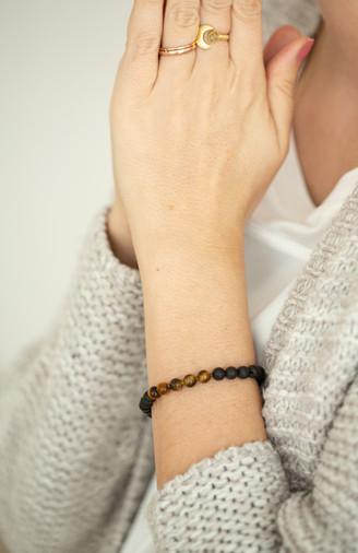 Tigerauge Lava Armband