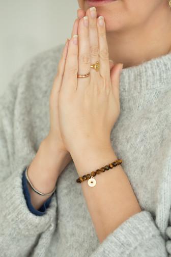 Tigerauge Sandelholz Armband