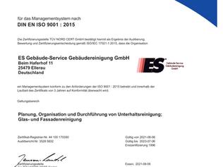 Seit über 25 Jahren nun ISO zertifiziert