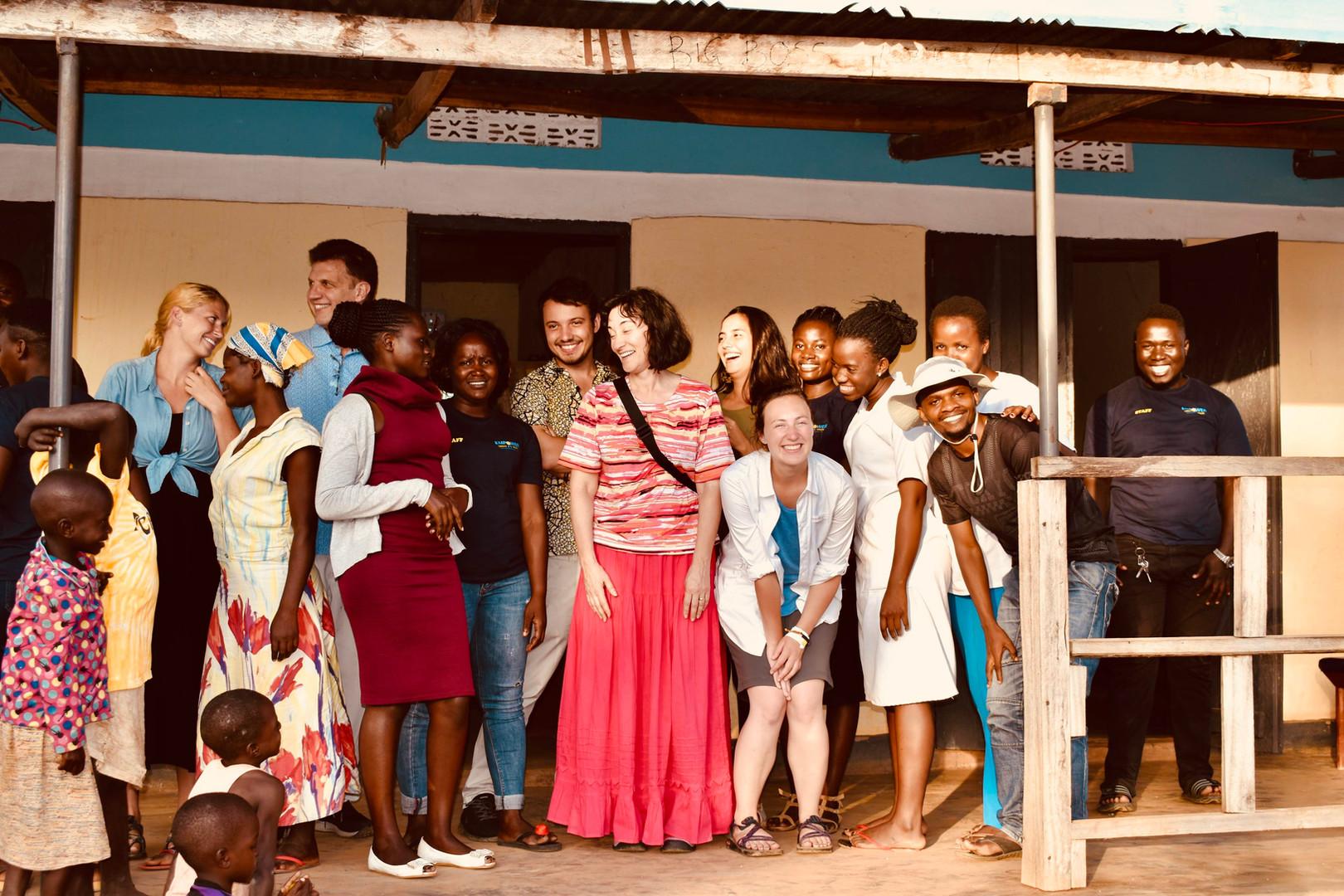ETH Family Outside Mpunde Health Center
