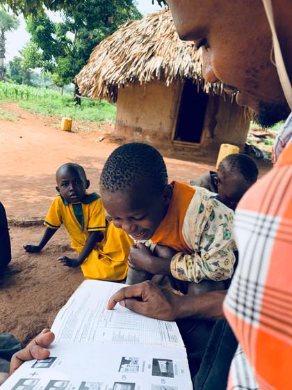 Kazungu doing research
