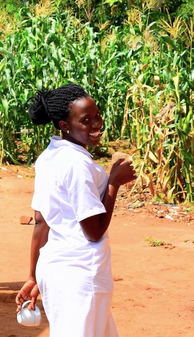 Amina Namwebya, Midwife