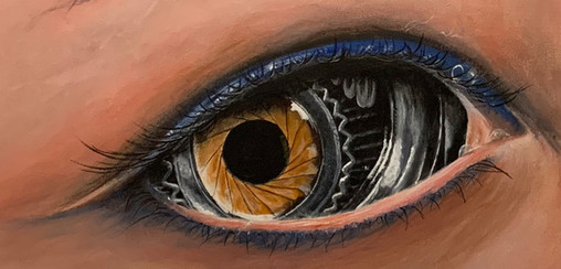 Mechanical Eyes Close Up