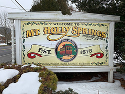 Mt Holly Holly Springs Sign