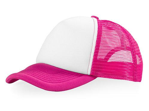"""Бейсболка """"Trucker"""", розовый/белый"""