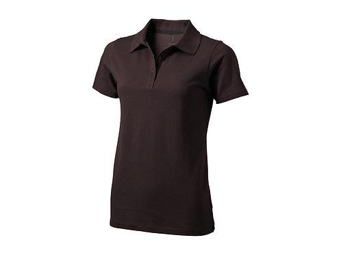 """Рубашка поло """"Seller"""" женская, шоколадный коричневый"""