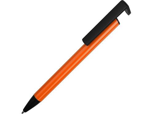 Ручка-подставка шариковая «Кипер Металл», оранжевый