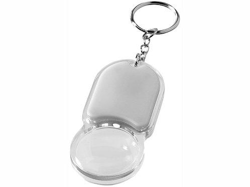 """Брелок """"Zoomy"""" с увеличительным стеклом и фонариком, серебристый"""