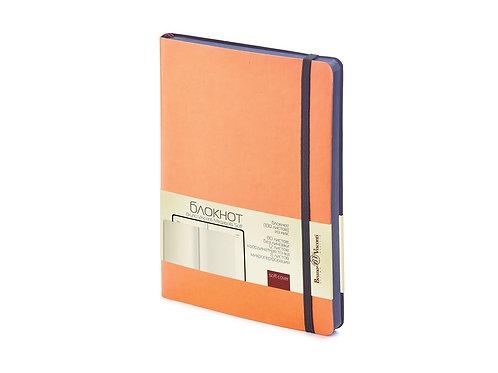 Блокнот А5 «Megapolis Soft» на резинке, оранжевый