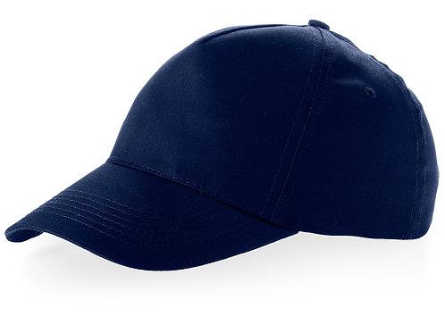 """Бейсболка """"Brunswick"""", 5 панелей, темно-синий"""
