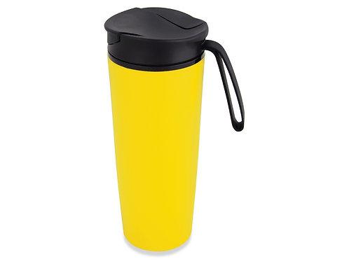 Термокружка «Годс» 470мл на присоске, желтый