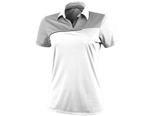 """Рубашка поло """"Prater"""" женская, белый/светло-серый"""