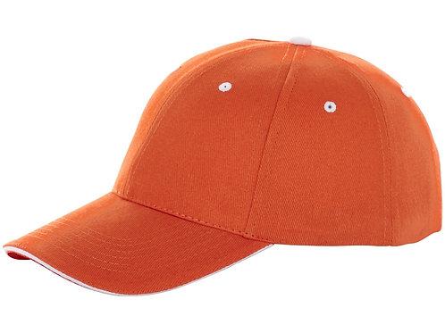 """Бейсболка """"Brent"""", «сэндвич», 6 панелей, оранжевый"""