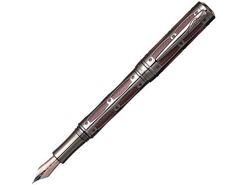 Ручка Pierre Cardin THE ONE с колпачком на резьбе, пушечная сталь/красный
