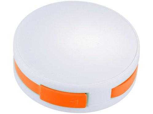 """USB Hub """"Round"""", на 4 порта, белый/оранжевый"""
