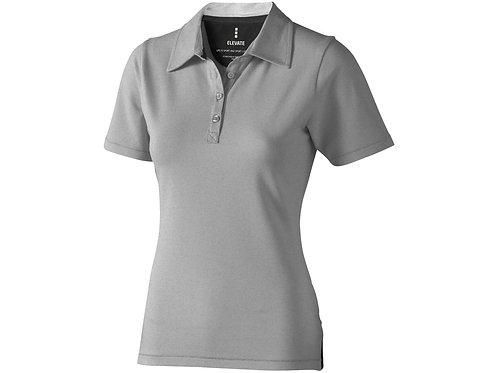 "Рубашка поло ""Markham"" женская, серый меланж/антрацит"