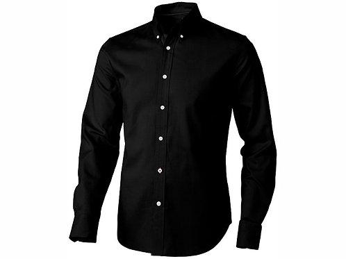 """Рубашка """"Vaillant"""" мужская с длинным рукавом, черный"""