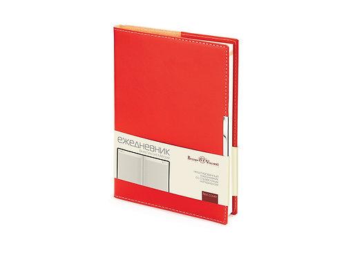 Ежедневник недатированный А5 «Metropol», красный