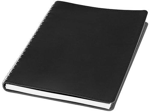 Блокнот Brinc А5, черный/серебристый