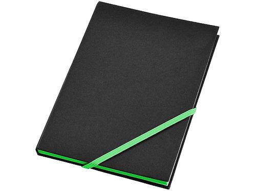 """Блокнот А5 """"Travers"""", черный/зеленый"""