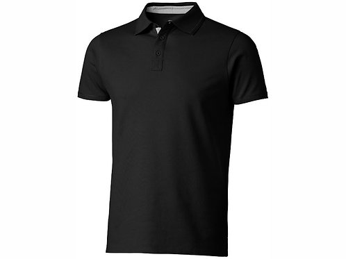 """Рубашка поло """"Hacker"""" мужская, черный/серый"""