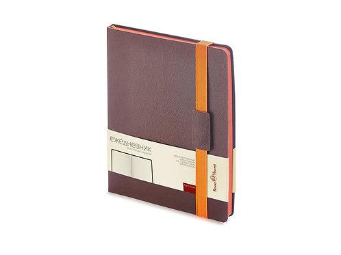 Ежедневник В5 недатированный «Leggenda», коричневый