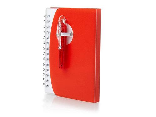 """Блокнот А7 """"Tribune"""" с ручкой, красный"""