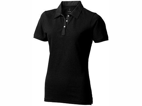 """Рубашка поло """"York"""" женская, черный/антрацит"""