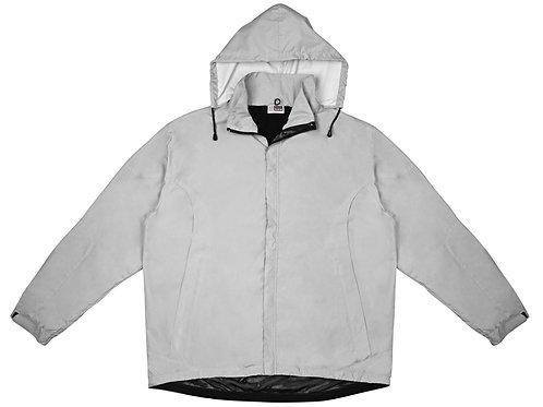 """Куртка мужская с капюшоном """"Wind"""", серебристый"""