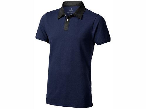 "Рубашка поло ""York"" мужская, темно-синий/антрацит"