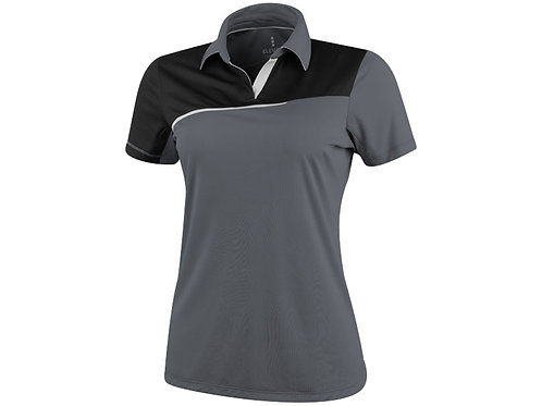 """Рубашка поло """"Prater"""" женская, серый/черный"""