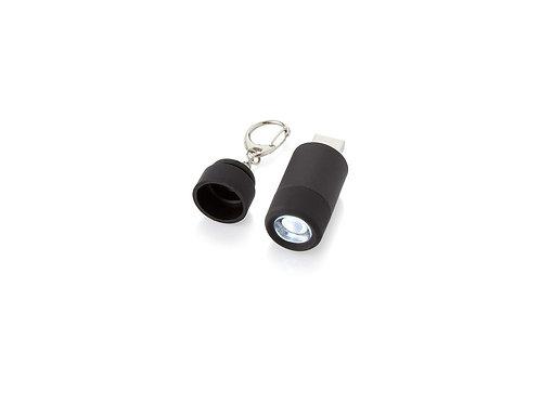 """Мини-фонарь """"Avior"""" с зарядкой от USB, черный"""