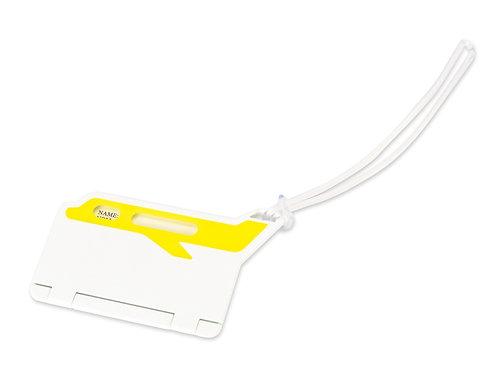 """Бирка для багажа """"Hop"""", белый/желтый"""
