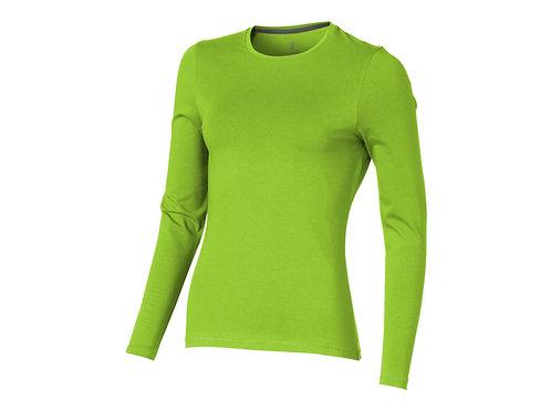 """Футболка """"Ponoka""""  женская с длинным  рукавом, зеленое яблоко"""