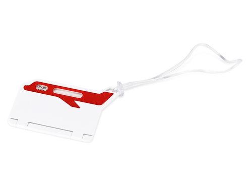 """Бирка для багажа """"Hop"""", белый/красный"""