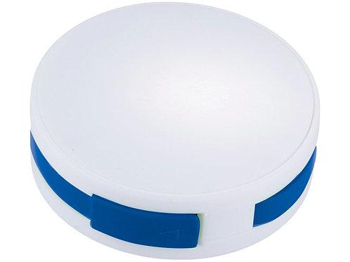 """USB Hub """"Round"""", на 4 порта, белый/ярко-синий"""