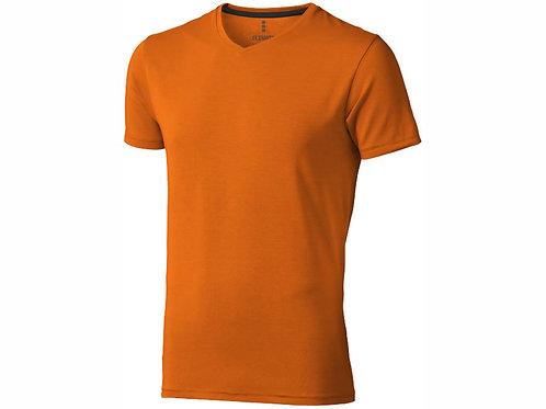 """Футболка """"Kawartha"""" мужская с V-образным вырезом, оранжевый"""