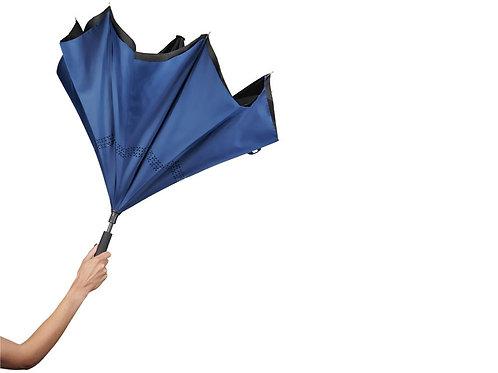 """Зонт Lima 23"""" с обратным сложением, черный/темно-синий"""
