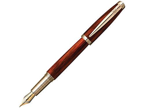 Ручка Pierre Cardin MAJESTIC с колпачком на резьбе, коричневый/черный/золото