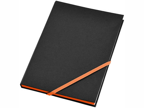 """Блокнот А5 """"Travers"""", черный/оранжевый"""