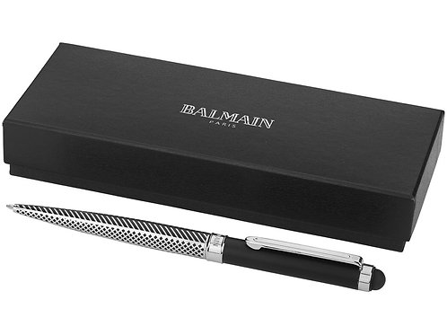 """Ручка-стилус шариковая """"Empire"""", серебристый/черный, синие чернила"""
