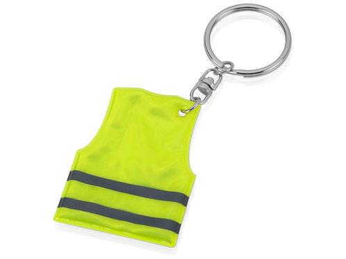 Брелок в форме светоотражающего жилета, неоново-желтый