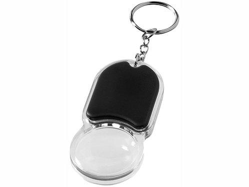 """Брелок """"Zoomy"""" с увеличительным стеклом и фонариком, черный"""