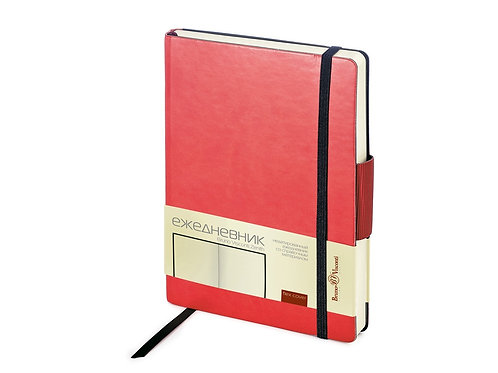 Ежедневник А5 недатированный «Zenith», красный