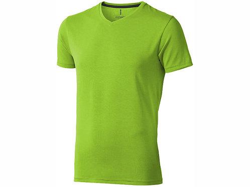"""Футболка """"Kawartha"""" мужская с V-образным вырезом, зеленое яблоко"""