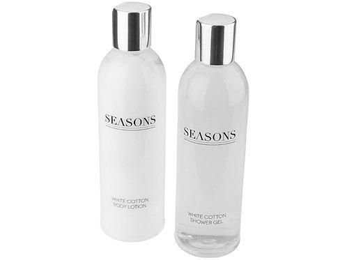 Банный набор «Alden» от Seasons, белый/серебристый