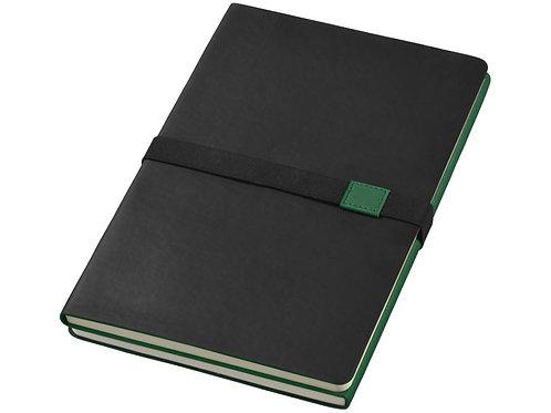 """Блокнот А5 """"Doppio"""", зеленый/черный"""