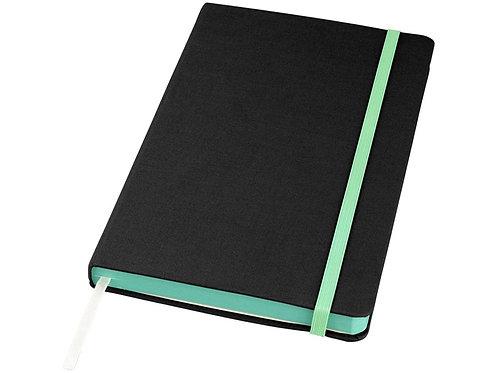 Блокнот Frappé тканевый, черный/зеленый